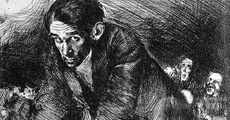 """Bruno Schulz, """"Dedykacja"""" (Introdukcja), 1920, cliché-verre na papierze, 13,5 x 18 cm, fot. Muzeum Narodowe w Krakowie"""